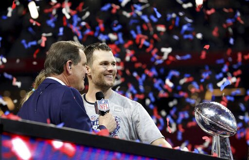 New England Patriots quarterback Tom Brady is interviewed by Jim Nantz  after defeating the Los Angeles Rams during NFL Super Bowl 53 6d0d6561f