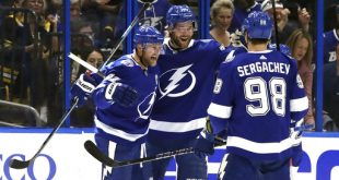 e0e67df157e The Tampa Bay Lightning (59-14) have only five games remaining in the  regular season. Winning four out of these five would give them the record  of most ...