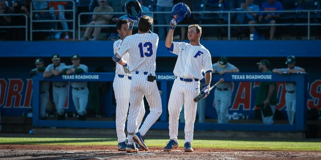 cafb8e9de92b Florida Baseball s Explosive Offense Leads to Game One Victory Over ...