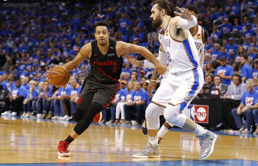 ef6212c58 Blazers win on the road to take 3-1 series lead - ESPN 98.1 FM - 850 ...