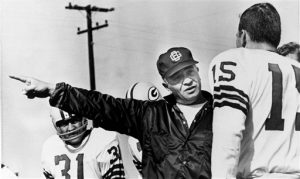Bart Starr and Coach Vince Lombardi