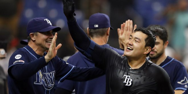 Rays win in extras through Choi walk-off.