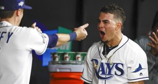 Willy Adames after home run vs. Justin Verlander