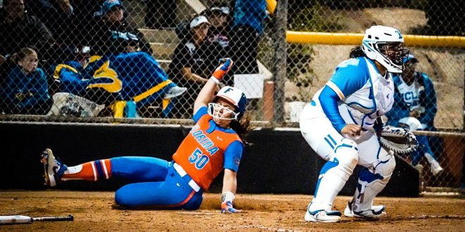 Gator softball lost to UCLA