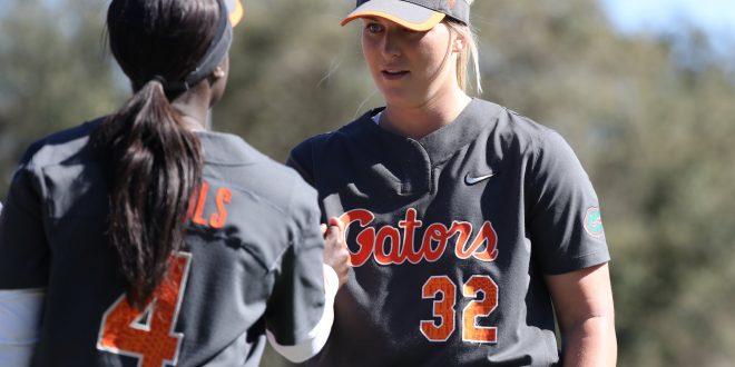 Gator softball players shake hands