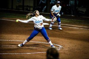 Lugo pitches ball