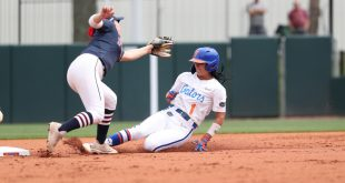 Gators' Hannah Adams slides into second