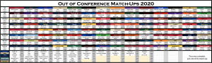 Conference Realignment Ten Game Season Out-of-Conference Matchups