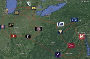 Realignment Big 14 Permanent Rivals mapped