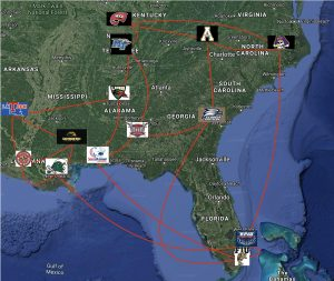 Realignment Southern Conference Mapped