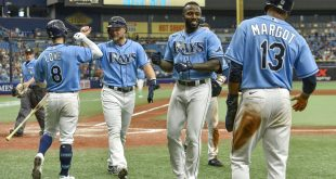 Tampa Bay Rays on homeplate