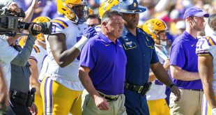 Ed Orgeron after a win